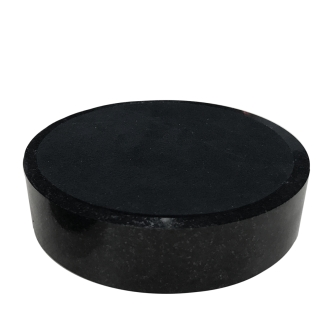5 Inch Round Black Granite Base